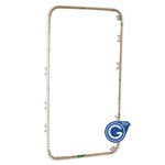 iPhone 4 front frame High Quality with Adhesive strip on rim in White- Replacement part (compatible)
