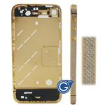 Swarovski Diamante Midframe for iPhone 4 in Gold