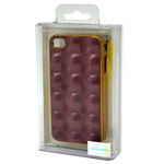 3D Back Cover Case in Gold and Purple for iPhone 4/4S