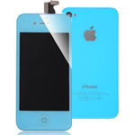 iPhone 4 Light Blue complete lcd with Battery Cover - High Quality