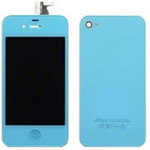 iPhone 4 Complete LCD with Battery Cover set in Light Blue