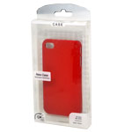 Ultra Slider Crystal Series Satin Silver Back Cover Case for iPhone 4/4S in Red (in Retail Packaging)