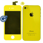 iPhone 4 LCD and Digitizer in Yellow with Battery Cover and Home Button (High Quality)