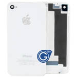 iphone 4 battery cover with diamond logo in white