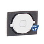 iPhone 4S home button with spacer complete white-Replacement part (Compatible)