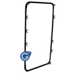 iPhone 4S Mid Frame with Adhesive in Black-Replacement part (compatible)