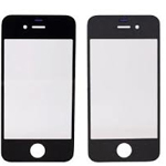 iPhone 4S Front Glass lens in Black- emplacement part (compatible)