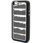 Luxury iPhone 5 Linear Bling case with Crystals in Black