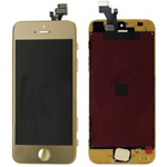 iPhone 5 Complete Lcd and digitizer with Frame in Gold with Home Button