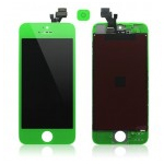 iPhone 5 Complete Lcd and Digitizer with Frame in Lime Green with Home Button