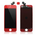 iPhone 5 Complete lcd and digitizer with frame in Red with Matching Home Button