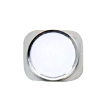 iPhone 5 White Home Button with Silver Chrome Ring