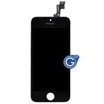 iPhone 5S, Complete LCD and Digitizer Assembly in Black (VHQ)
