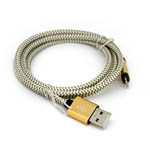 New Braided Lightning Cable in Bronzed Gold for iPhone 6 plus, 6S, 6, SE, 5 Series - 1 metre