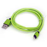 New Braided Lightning Cable in Lime Green for iPhone 6 plus, 6S, 6, SE, 5 Series - 1 metre