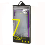 Stylish Safety Aluminium Bumper Case in Purple for iPhone 7 Plus