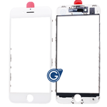 iPhone 7 Glass Lens with Bezel Frame in White