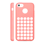 iPhone 5C Rubber Case with Retro Dots Holes in Baby Pink (minimum order 2 pcs)