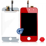 iPod touch 4 Complete LCD with Digitizer in Red - Replacement part (compatible)