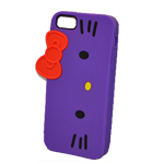 Hello Kitty Silicone Skin case for iPhone 5 in Purple (minimum order 2 pcs)