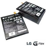 Genuine LG G-Flex (D955) Rechargeable Battery BL-T8, Lithium Polymer 3.8v 3500mah - LG Part number: EAC62118701