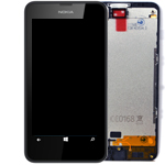 Genuine Nokia Lumia 630, 635 Complete Lcd with digitizer and frame black - Nokia P/N:00812Q0