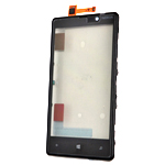 Genuine Nokia Lumia 820 Front Cover + Touchscreen - Nokia Part Code: 00805X6