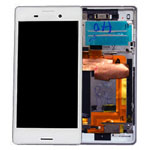 Genuine Sony Xperia M4 Aqua (E2303) Complete Lcd with Digitizer and Frame in Silver- Sony part no: 124TUL0013A (Grade A)