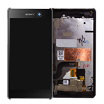 Genuine Sony Xperia M5 (E5603) Complete Lcd with Touchpad and Frame in Black- Sony part no: 191HLY0003B-BCS (Grade B)