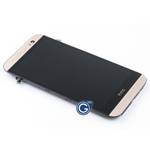HTC One M8 Complete LCD And Touchpad With Frame in Gold