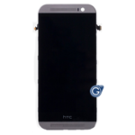 HTC One M8 Complete LCD And Touchpad With Frame in Grey