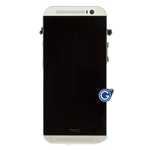 HTC One M8 Complete LCD And Touchpad With Frame in Silver