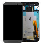 Genuine HTC One (M9) Complete Front Lcd with Digitizer Touchscreen in Metallic Grey-HTC part no: 80H01910-00
