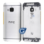 HTC One M9 Rear Housing with Side Button in Silver