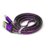 New Metal Fish Scale Lightning Cable in Purple for iPhone 6 plus, 6S, 6, SE, 5 Series - 1 metre