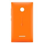 Genuine Microsoft Lumia 435 Battery Cover in Orange-Microsoft part no: 02508V0