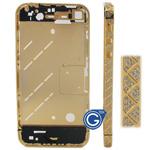 Rewind Style Swarovski Diamante Midframe for iPhone 4S in Gold