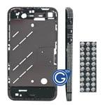 Swarovski Diamante Midframe for iPhone 4 in Black