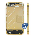 Luxury Gold Midframe for iPhone 4S with Small Parts