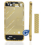 Hexagon Style Midframe for iPhone 4 in Gold