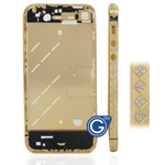 Gold Square Swarovski Diamante Midframe for iPhone 4S