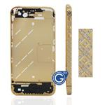 Cross Style Swarovski Diamante Midframe for iPhone 4S in Gold