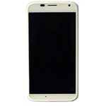 Genuine Motorola Moto X (XT1052) Complete Front with LCD and Digitizer Touchscreen in White- Part no: 01017434002