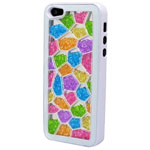 Luxury iPhone 5 Pentagon Bling Case with Multicolour Crystals