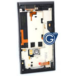 Genuine Nokia N9 Complete Middle Cover / Chassis - Black, Part No: 0258178