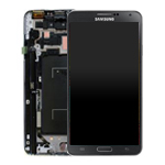 Genuine Samsung Galaxy Note 3 LTE (N9005) Complete lcd and digitizer with frame in black - Part no:  GH97-15209A