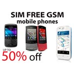 A3 Poster Advertising Sim free gsm Mobile Phones