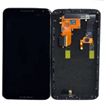 Motorola Nexus 6 (XT1100, XT1103) Complete lcd with Digitizer Assembly in Black with front frame