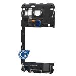 LG Google Nexus 5X Rear Housing with Loudspeaker Module and Fingerprint Scanner Flex in Black