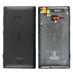 Genuine Nokia Lumia 720 Back Cover in Black- Nokia part no:02504M2;00809M8